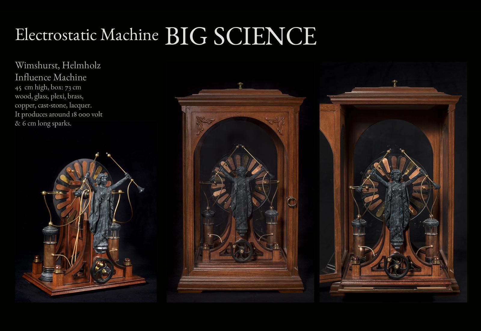 Objekte Wunderkammer Hans Wißmeyer Electrostatic Machine Big Science