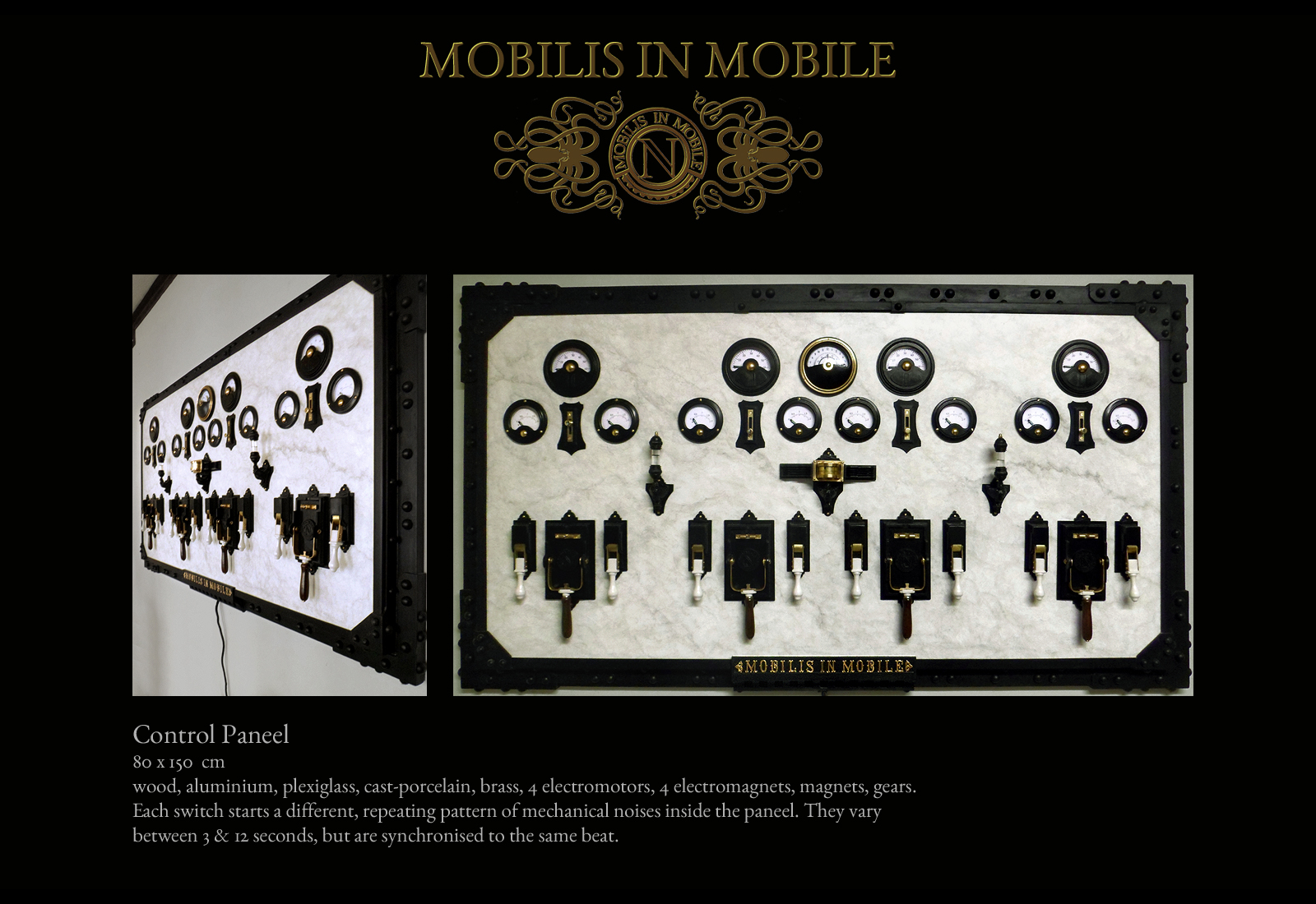 Objekte Wunderkammer Hans Wißmeyer Mobilis in Mobile Control Paneel
